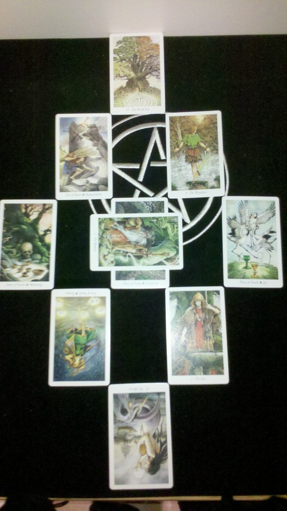 Wildwood Tarot Personality of World Reading Spread